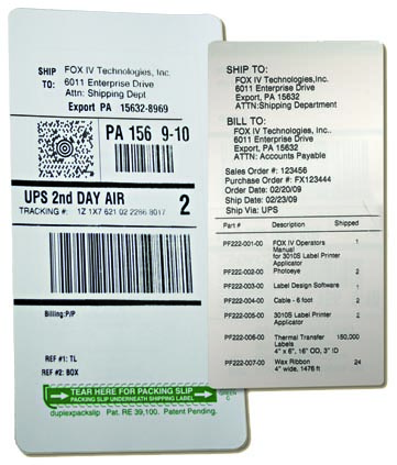 Buy twinprinttm two sided label packing slip shipping label for How to purchase a shipping label