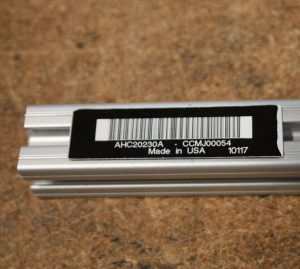 RFID closed cell foam tag on metal part